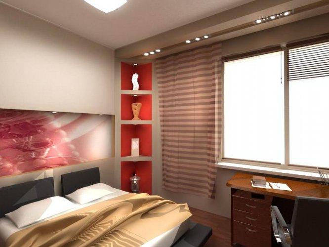 Дизайн занавесок в спальню.