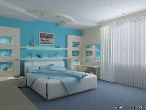 Интерьер спальни гостиная