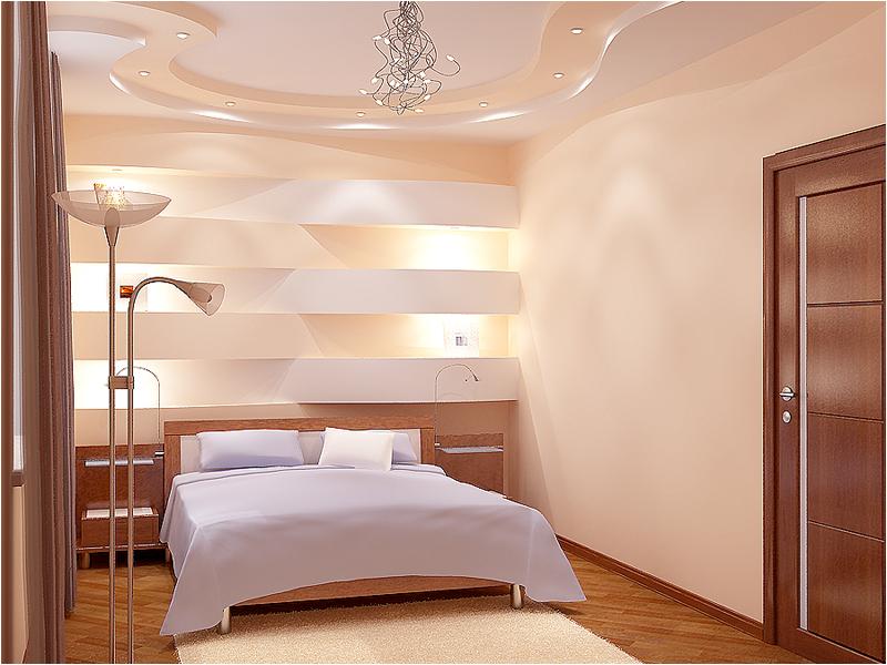 Креативный интерьер спальни