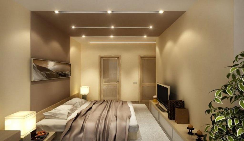 Дизайн спальни в панельном доме с лоджией.