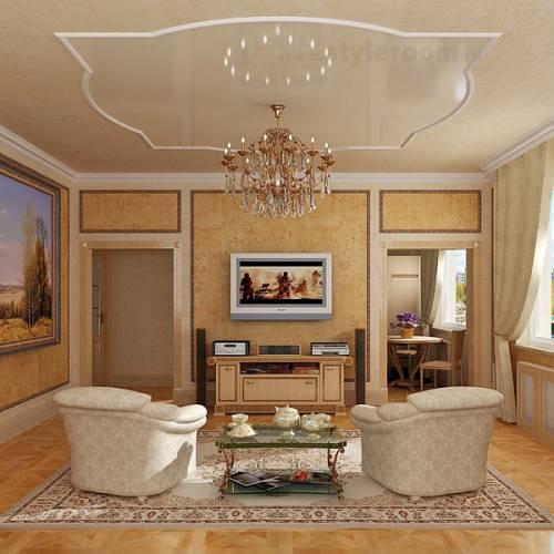 дизайн гостиной 36 кв м