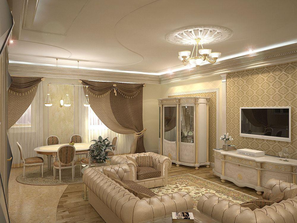 Дизайн гостиной столовой фото